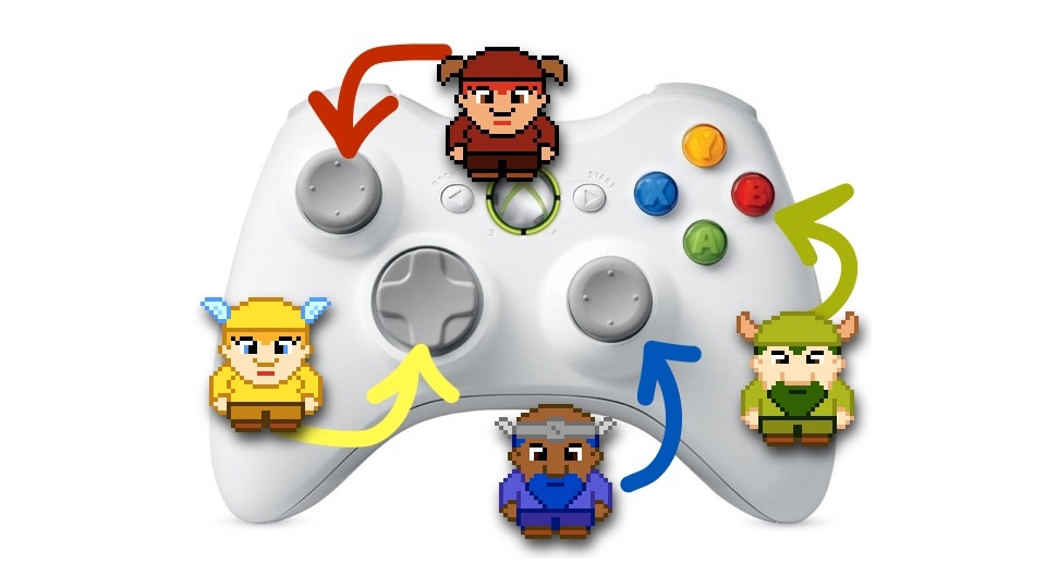 Four dwarves, one controller.